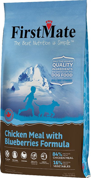 First Mate Chicken Meal with Blueberries Dog Food