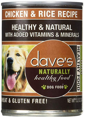 Dave's Naturally Healthy Chicken & Rice Dog Food