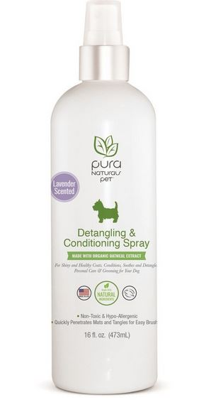 Pura Natural Pet Detangling & Conditioning Spray