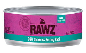 Rawz 96% Chicken & Herring Pâté Cat Food 5.5 oz