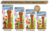 Pet Qwerks Flavorit Bone Peanut Butter Flavor Infused Dog Chew Toy