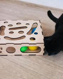 Interactive Wooden Cat Game