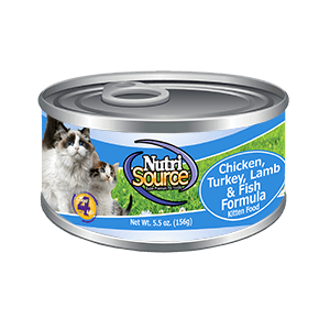 NutriSource Chicken, Turkey, Lamb, Fish Can Kitten Food 5.5 oz