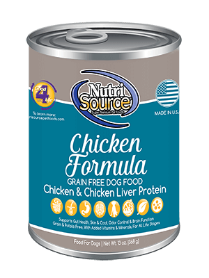 Nutrisource Chicken Select GF Can Dog Food 13 oz