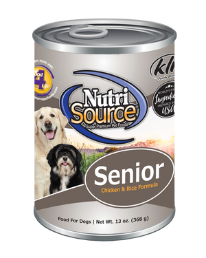 Nutrisource Chicken & Rice Senior 13 oz