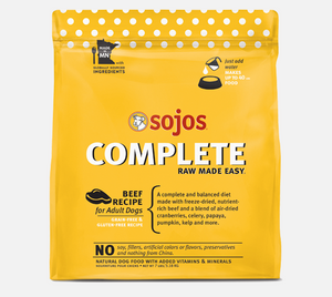 Sojos Complete Dog Food Beef Recipe