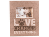 Pallet Box Picture Frame (Vertical) - Love Changes Everything