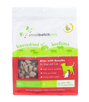 SmallBatch Freezedried Treats Beef Bites 7 oz