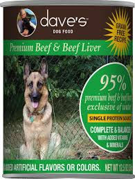 Dave's 95% Premium Meats Dog Food—Beef & Beef Liver 13oz
