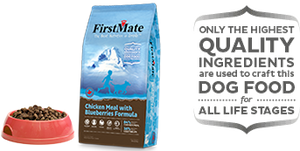 First Mate Chicken Meal with Blueberries Small Bites Dog Food