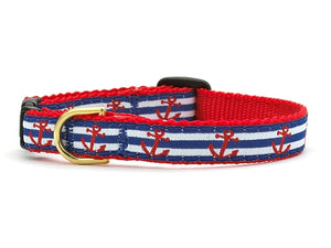 Anchors Away Cat Collar