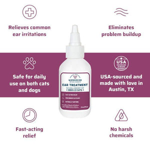 Wondercide Ear Treatment for Dog & Cat 2oz