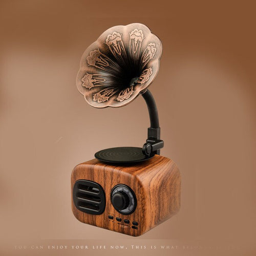 Mini Portable Wooden Bluetooth Speaker - Trendyy Studio
