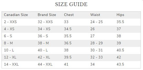 Mos Mosh Size Guide