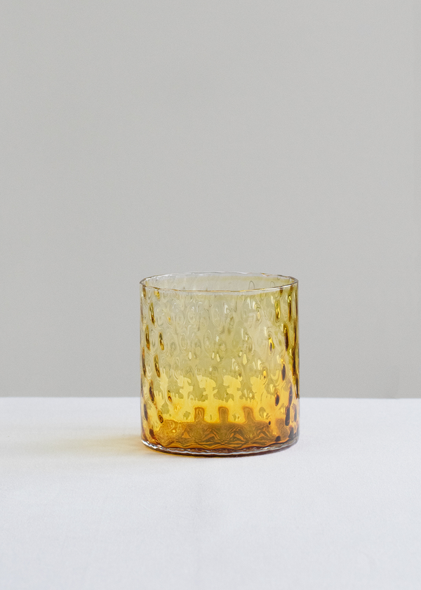 Deco Collection Drinking Glass | Amber