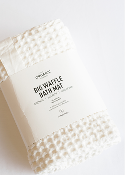 The Organic Company Big Waffle Bath Mat Natural White
