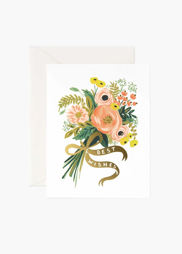 Rifle Paper Best Wishes Bouquet Card