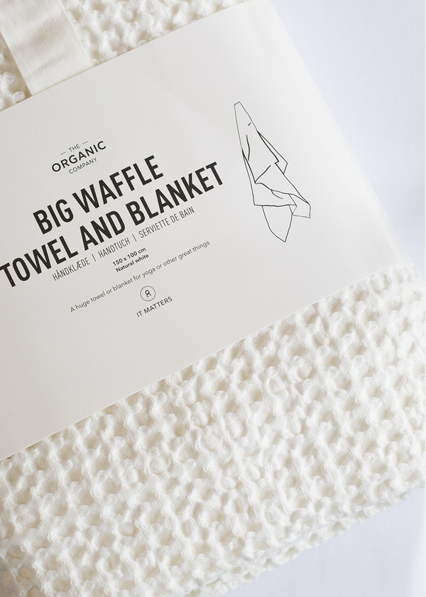 The Organic Company Big Waffle Towel and Blanket White