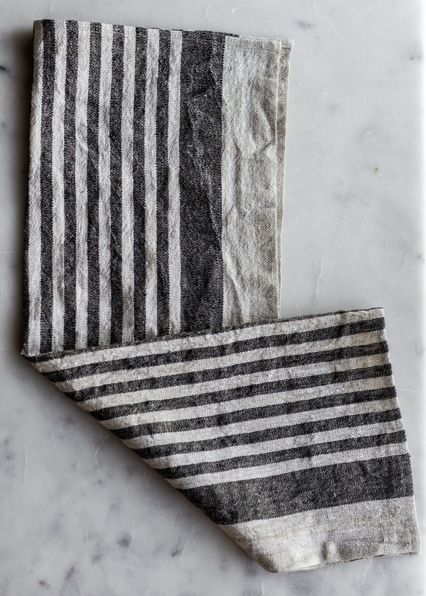 Nomi Tea Towel - Black Stripe