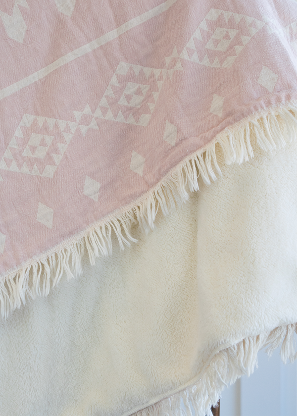 Tofino Towel The Coastal Throw Rose Smoke