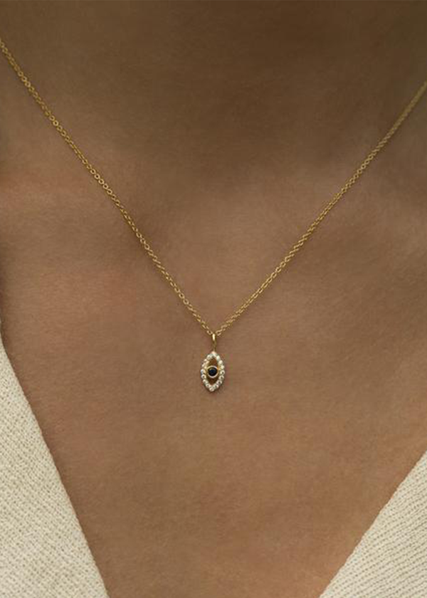 Evil Eye Necklace | Gold & Sapphire