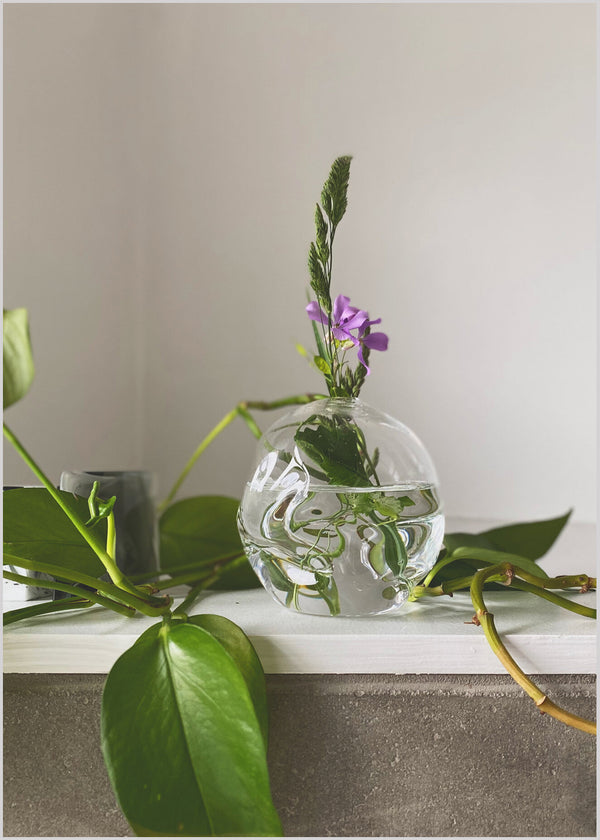 Clear Soft Bud Vase