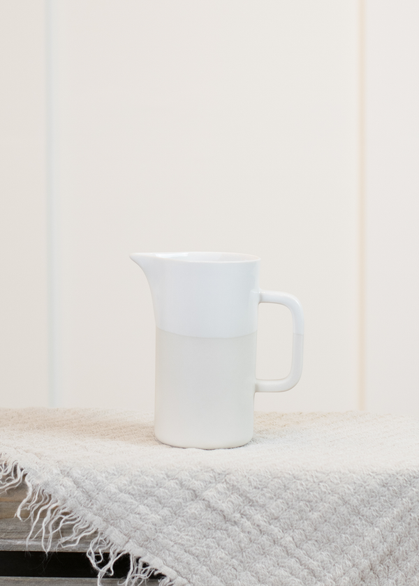Russell Hackney Ceramics White Pitcher