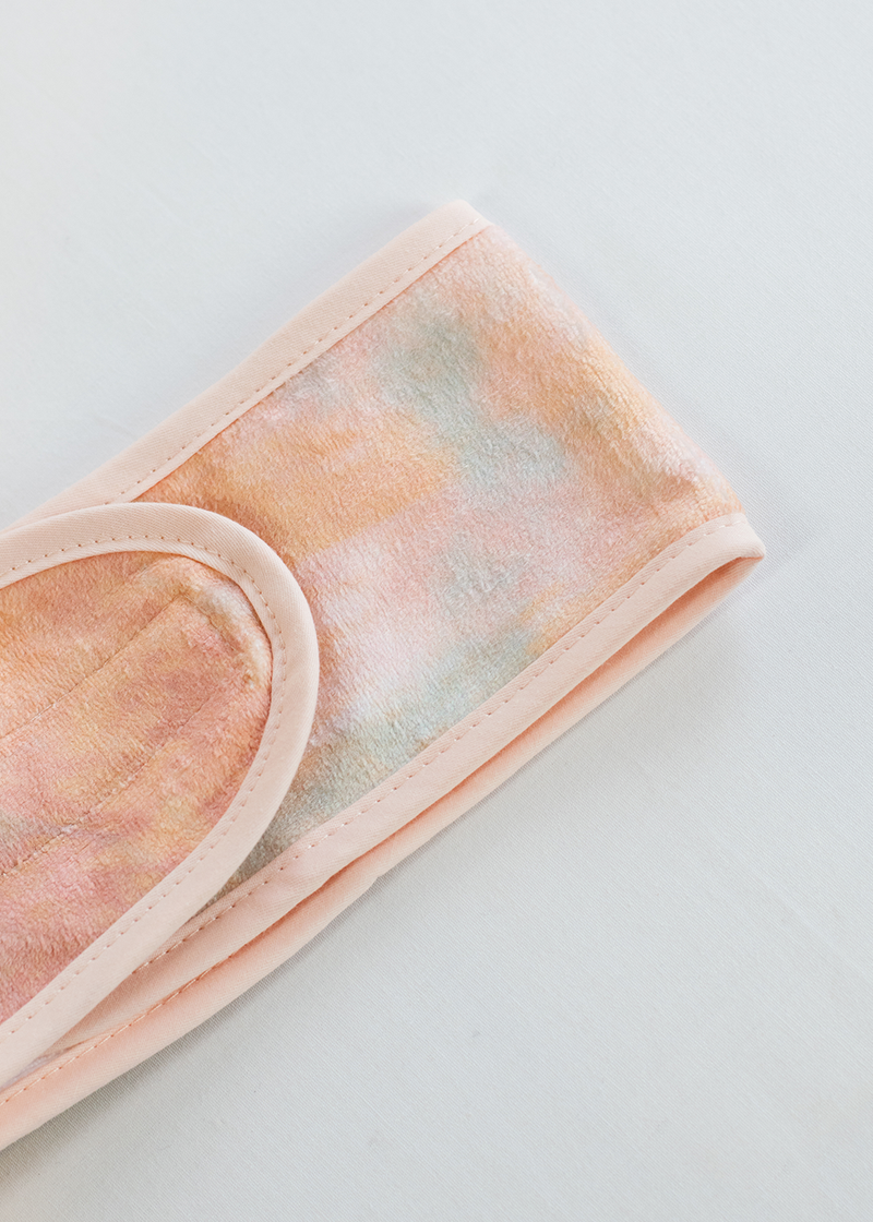 Kitsch Microfiber Spa Headband Sunset Tie Dye