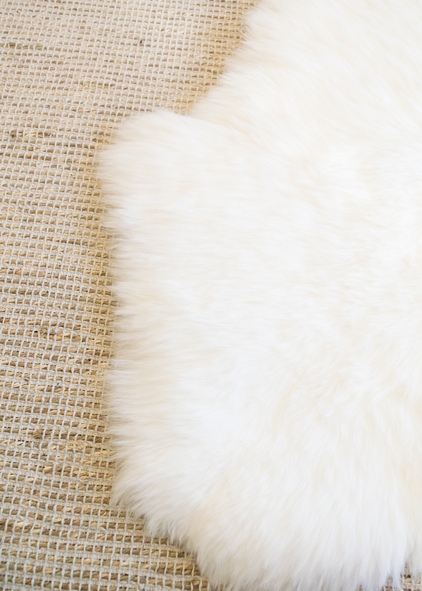 Double Genuine Sheepskin Rug Ivory