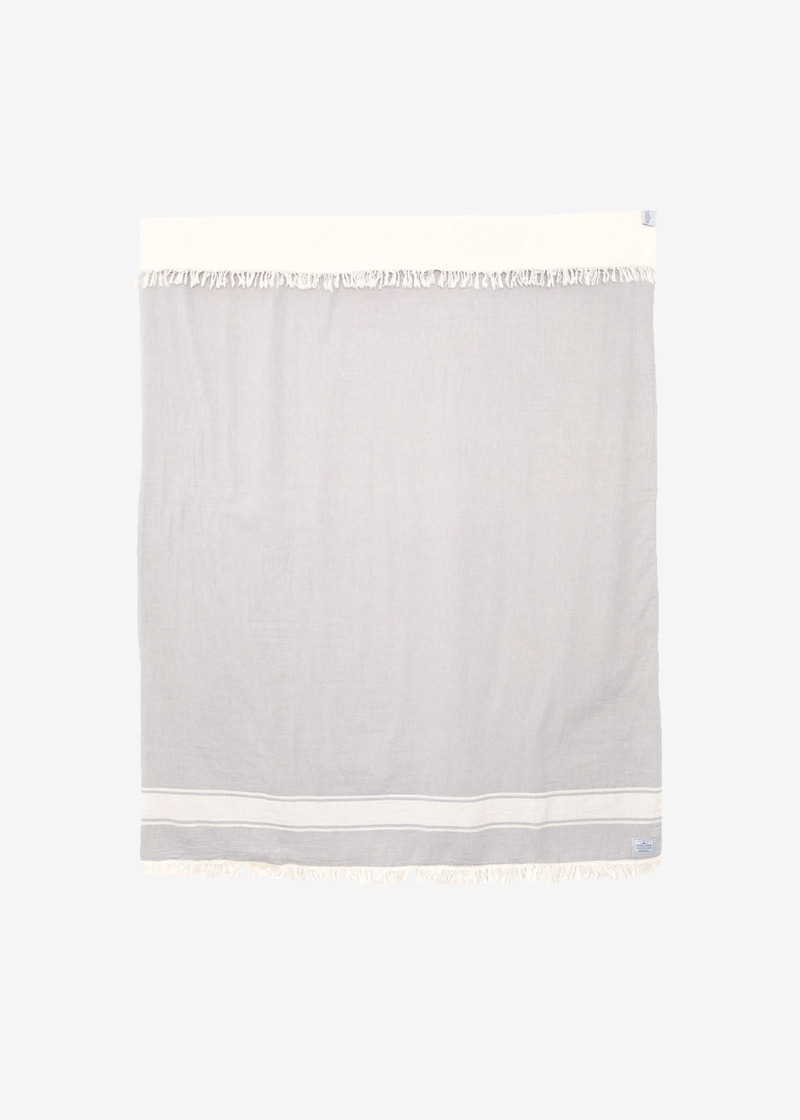 Tofino Towel The Journey Throw | Pewter