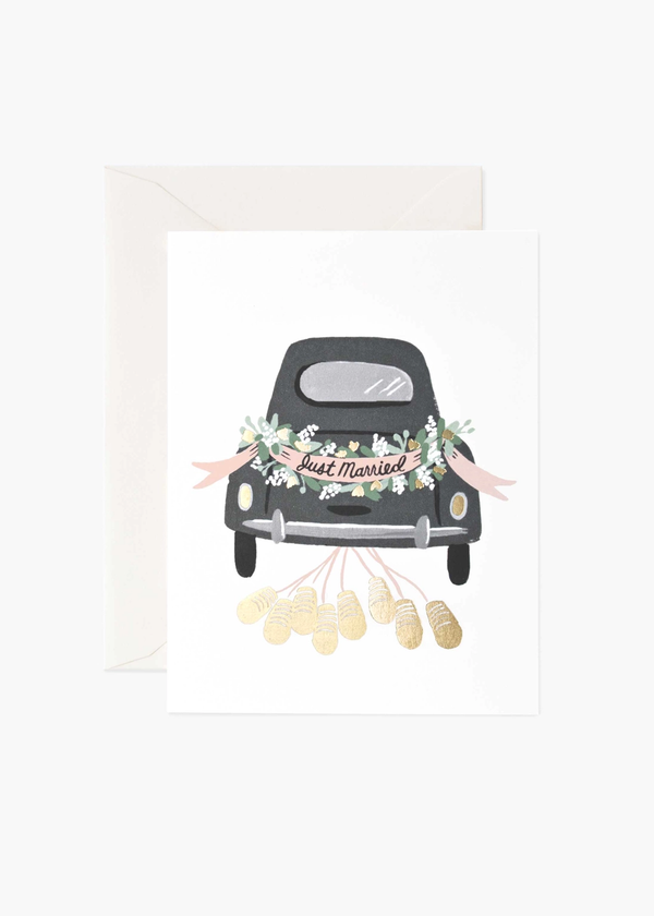 Rifle Paper Just Married Getaway Card