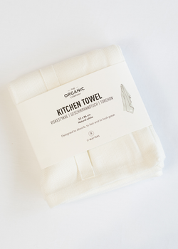 The Organic Company Kitchen Towel White