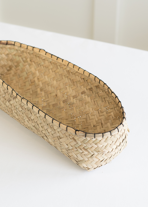 Indaba Long Blanket Stitch Basket - Large