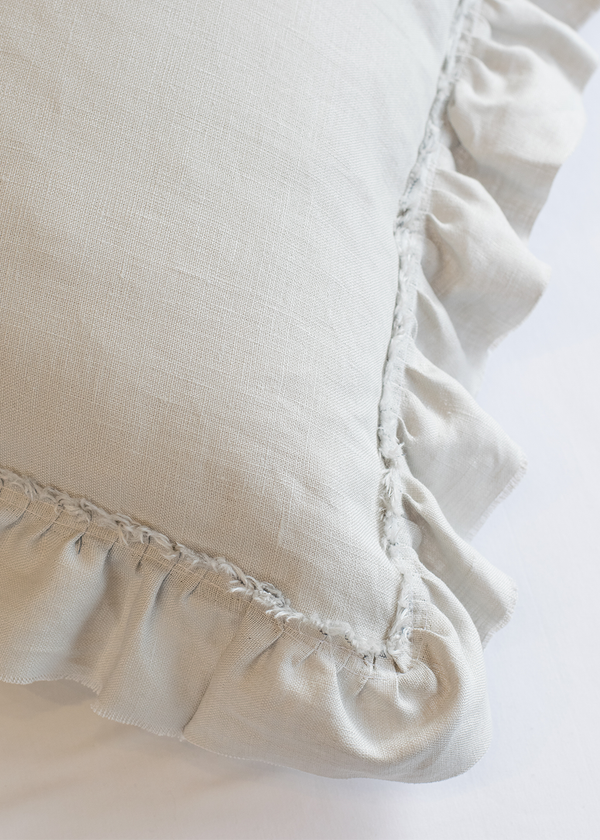 20X20 Raw Edge Ruffled Pillow