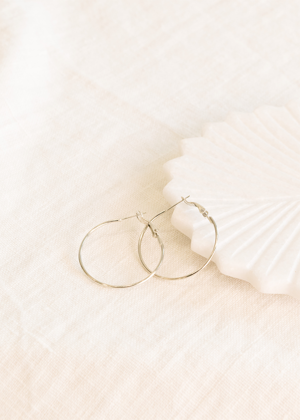 Bella & Wren Design Silver Hoop Earrings