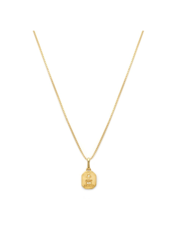 Love Token Necklace Square | Gold