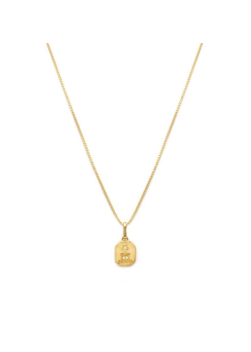 Leah Alexandra Love Token Square Necklace