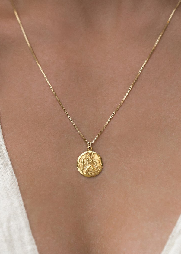 St. Christopher Necklace | Gold
