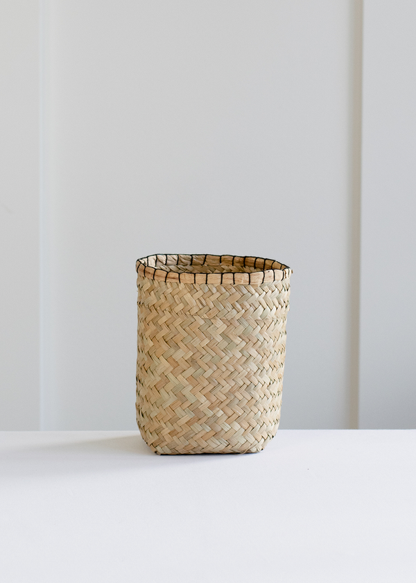 Indaba Tall Blanket Stitch Basket - Small