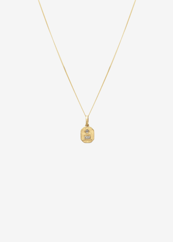 Leah Alexandra Love Token Square | 14k & Diamond