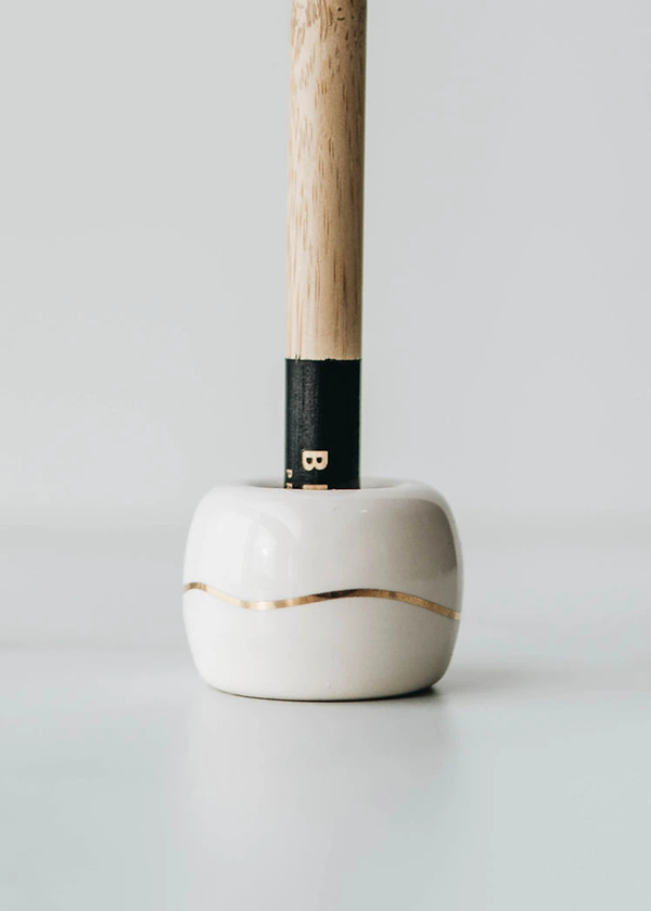 BKind Ceramic Toothbrush Holder Ivory