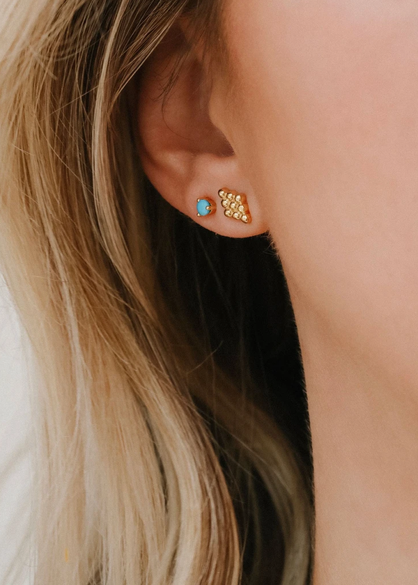 Leah Alexandra Element Studs Turquoise