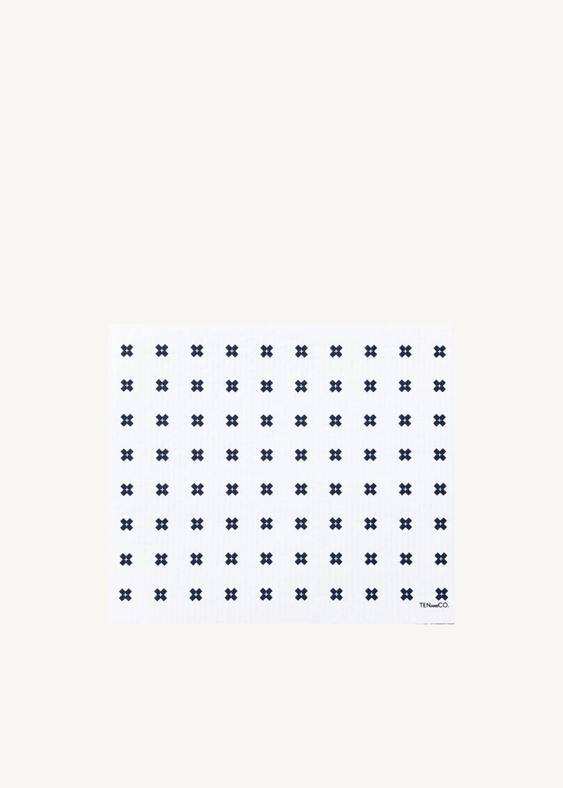 Ten & Co. Large Tiny X + Sponge Cloth Mat White