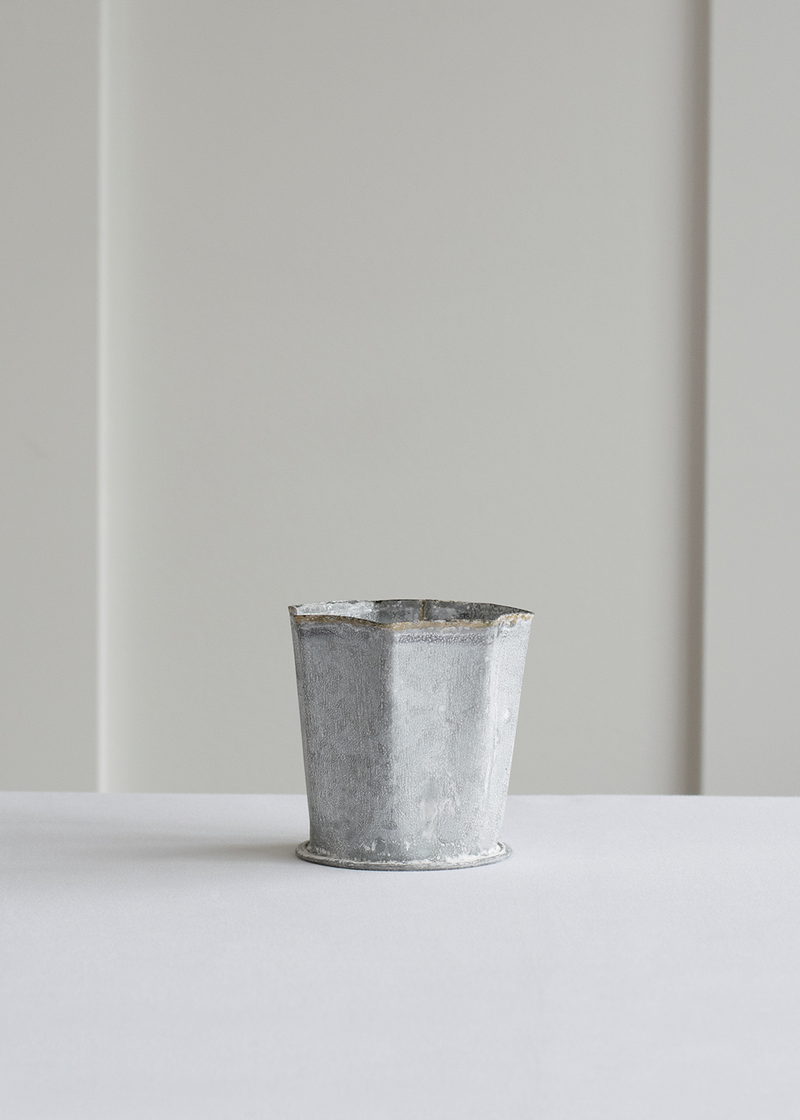 Indaba Whitewash Fluted Pot | Small