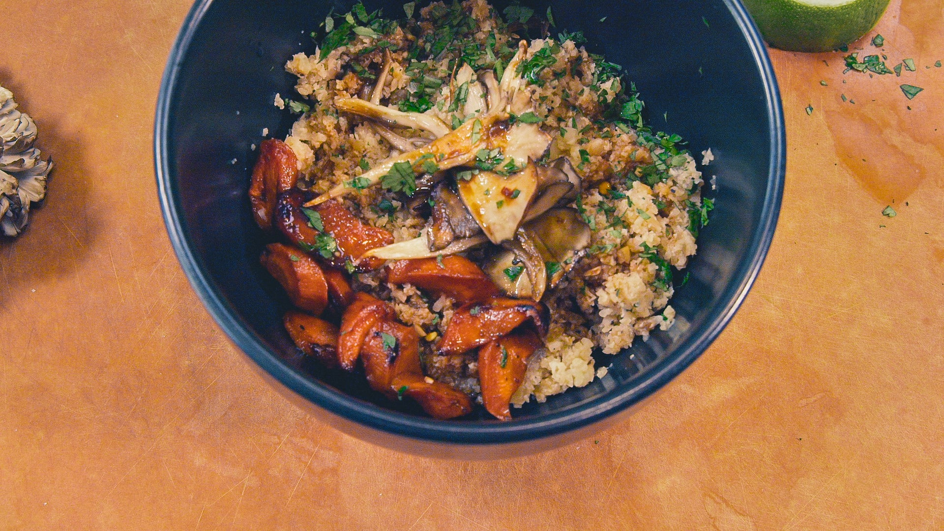 Miso Cauliflower Rice Bowl