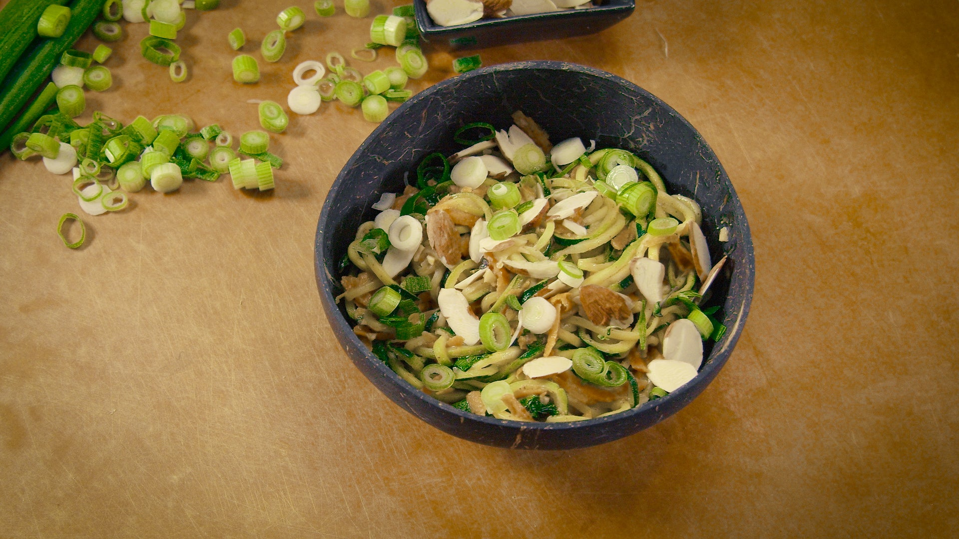 Almond Zoodle Bowl
