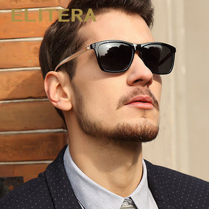 ELITERA Brand Design Aluminum Magnesium Frame Men's Sunglasses Polarizer