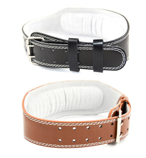 Weight Lifting Leather Belt Gym Training Fitness Back Support Powerlifting Waist