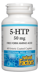 Natural Factors 5-HTP 50mg, 60caplets