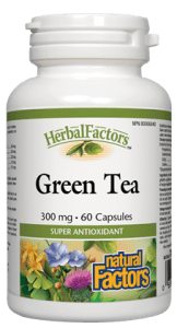 Natural Factors Green Tea 300mg, 60 capsules